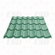 Металлочерепица 2,60 х1,18 Металл-Профиль зеленая фото