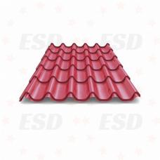 Металлочерепица 2,60 х1,18 Металл-Профиль темно-вишневая фото