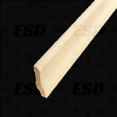 Европлинтус деревянный б/с 55х3000мм (сосна, ель) фото