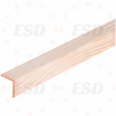 Уголок деревянный б/с 60х60х3000мм (сосна, ель) фото
