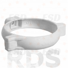 Murol ПВХ хомут крепления трубы Д=80 мм белый фото