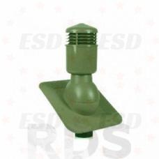 Wirplast К-22 Вент. выход изол  d=110 мм h=495мм с проходным эл-том  для кровли  из ГЧ (при монтаже) зеленый фото