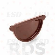 AS Заглушка желоба (с резиновым уплотнителем) 90/125 RAL 8017  коричневый фото