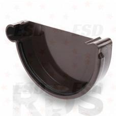 GALECO ПВХ Заглушка желоба левая, d=152 мм, коричневый фото