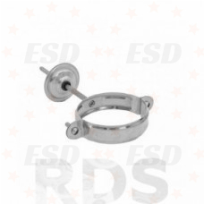 AS Комплект для крепления трубы (хомут, метиз, накладка ) 100/150 RR 23 серый фото