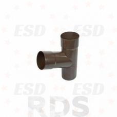 AS Тройник удлиненный 90/125 RAL 8017 коричневый фото