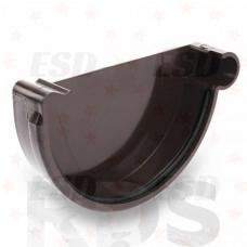 GALECO ПВХ Заглушка желоба правая, d=152 мм, коричневый фото