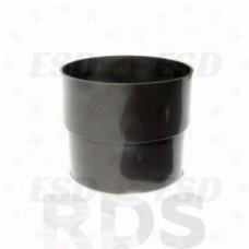 Murol ПВХ муфта соединения трубы Д=80 мм коричневая фото