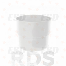 Murol ПВХ муфта соединения трубы Д=80 мм белый фото