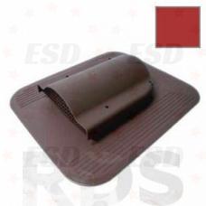 Wirplast К-17 Вентилятор подкр простр-ва с проходным эл-том  для кровли из ГЧ (при монтаже) красный фото