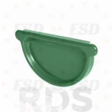 AS Заглушка желоба (с резиновым уплотнителем) 90/125 RAL 6005 зеленый фото
