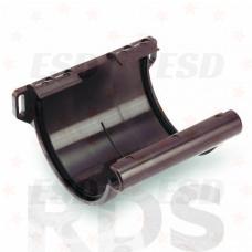 GALECO ПВХ Соединитель желоба, d=124 мм, коричневый фото