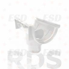 Murol ПВХ воронка желоба на резин. уплот. центральная Д=125 мм белый фото