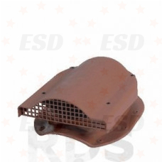 Wirplast К-51 Вентилятор подкровельного простр-ва с проходным эл-том  для кровли из М/ч коричн. фото